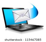 email mailing the world sms... | Shutterstock .eps vector #115467085