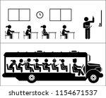 school days. school children.... | Shutterstock .eps vector #1154671537