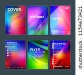 business brochure cover design... | Shutterstock .eps vector #1154673421