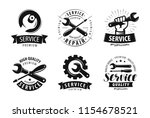 service  repair set of labels... | Shutterstock .eps vector #1154678521