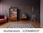 patterned carpet in spacious... | Shutterstock . vector #1154680237