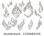 fire or flame element chinese ... | Shutterstock .eps vector #1154683144
