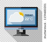 monitor icon in flat style with ...