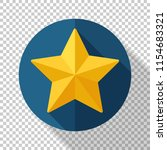 star icon in flat style with... | Shutterstock .eps vector #1154683321