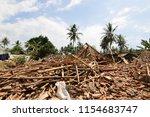 impact of the 2018 lombok... | Shutterstock . vector #1154683747