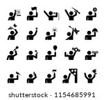 set of pictograms that... | Shutterstock .eps vector #1154685991