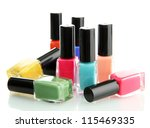 group of bright nail polishes... | Shutterstock . vector #115469335