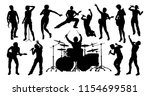 a set of high quality musicians ... | Shutterstock .eps vector #1154699581