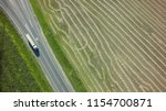 aerial top view of white truck... | Shutterstock . vector #1154700871