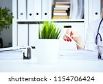 female medical intern or doctor ...   Shutterstock . vector #1154706424