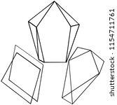 vector diamond rock jewelry...   Shutterstock .eps vector #1154711761