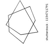 vector geometric form. isolated ...   Shutterstock .eps vector #1154711791