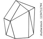 vector diamond rock jewelry...   Shutterstock .eps vector #1154711794