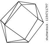 vector diamond rock jewelry...   Shutterstock .eps vector #1154711797