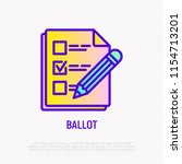 ballot  document with mark and... | Shutterstock .eps vector #1154713201