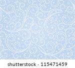winter blue seamless background ...