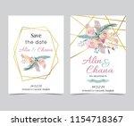 wedding invitation card | Shutterstock .eps vector #1154718367