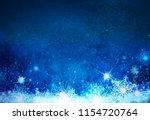 winter   blue  snowflakes...   Shutterstock . vector #1154720764