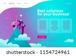 vector web page design template ... | Shutterstock .eps vector #1154724961