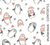seamless pattern with cute... | Shutterstock .eps vector #1154725711