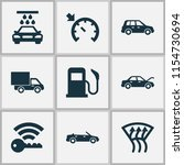 auto icons set with fuel ... | Shutterstock .eps vector #1154730694
