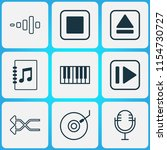 multimedia icons set with dj... | Shutterstock .eps vector #1154730727