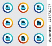document icons colored set with ... | Shutterstock .eps vector #1154731777