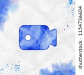 videocam watercolor icon. bold... | Shutterstock .eps vector #1154736604