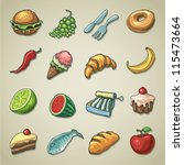freehand icons   food | Shutterstock .eps vector #115473664