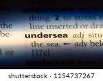 undersea word in a dictionary.... | Shutterstock . vector #1154737267