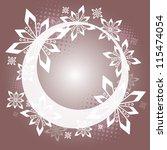 christmas ring   purple white...   Shutterstock .eps vector #115474054
