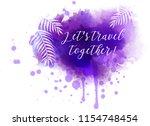 purple watercolor splash with... | Shutterstock .eps vector #1154748454