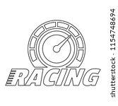 racing dashboard logo. outline... | Shutterstock . vector #1154748694