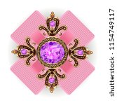 brooch pendant vintage with... | Shutterstock .eps vector #1154749117