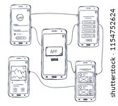 ui mobile app wireframe...