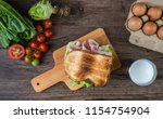 tasty and fresh delicious... | Shutterstock . vector #1154754904