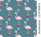 christmas pattern with flamingo....