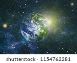 stars  dust and gas nebula in a ... | Shutterstock . vector #1154762281