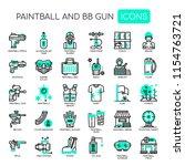 paintball and bb gun   thin... | Shutterstock .eps vector #1154763721