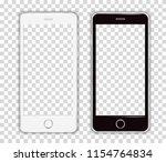 realistic cellphone smartphone... | Shutterstock .eps vector #1154764834