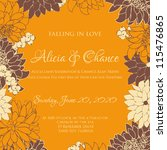 wedding card or invitation with ... | Shutterstock .eps vector #115476865