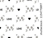 seamless patterns with cats... | Shutterstock .eps vector #1154770897