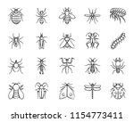 danger insect charcoal icons... | Shutterstock .eps vector #1154773411