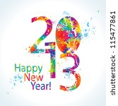 new year's card 2013 with... | Shutterstock .eps vector #115477861