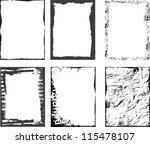 grunge textures set. background....   Shutterstock .eps vector #115478107