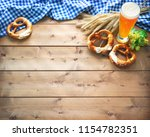 oktoberfest background with... | Shutterstock . vector #1154782351