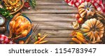 thanksgiving table served with... | Shutterstock . vector #1154783947