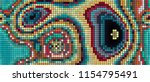 abstract mosaic pattern formed... | Shutterstock .eps vector #1154795491