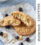 homemade russian oat cookies... | Shutterstock . vector #1154797954