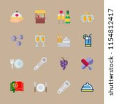 wine icons set. crystal ...   Shutterstock .eps vector #1154812417